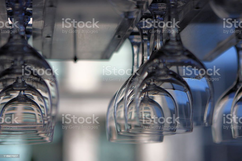 Wine Glass Stemware Restaurant Nightclub stock photo