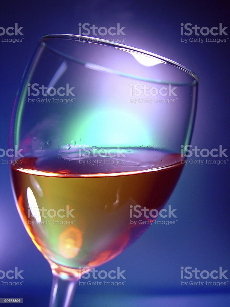 Wine Glass, Tilted royalty-free stock photo