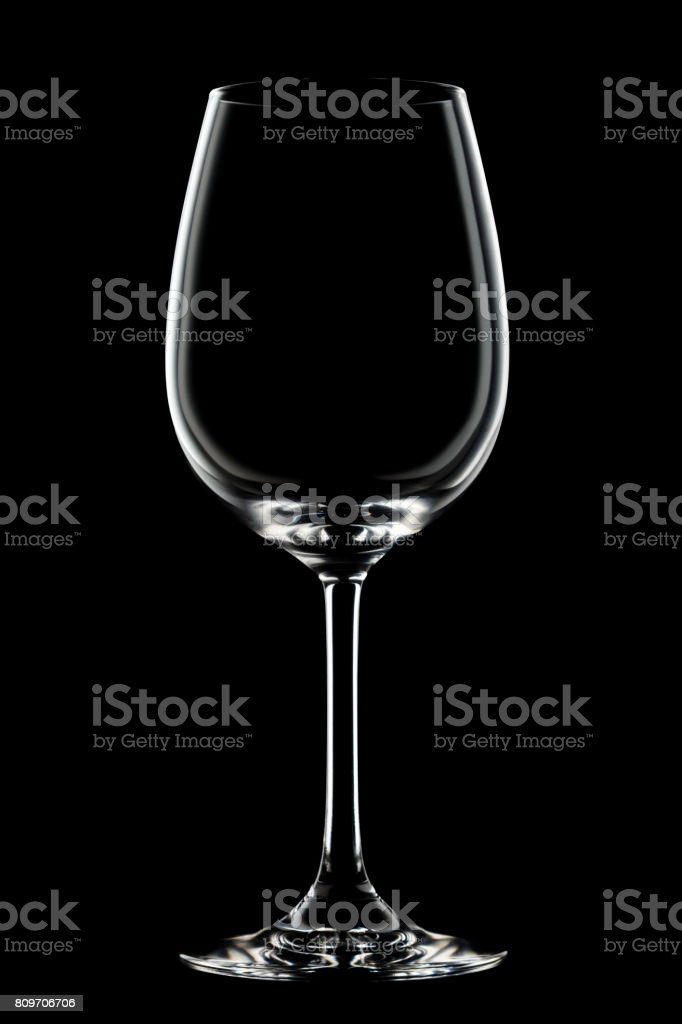 wine glass with highlight stock photo
