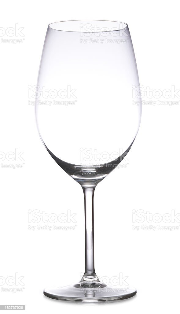Wine Glass with Path stock photo