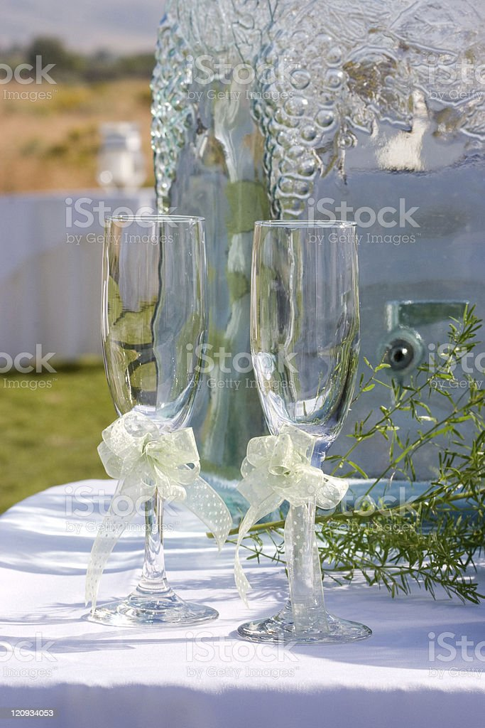 Wine Glass with Ribbon stock photo