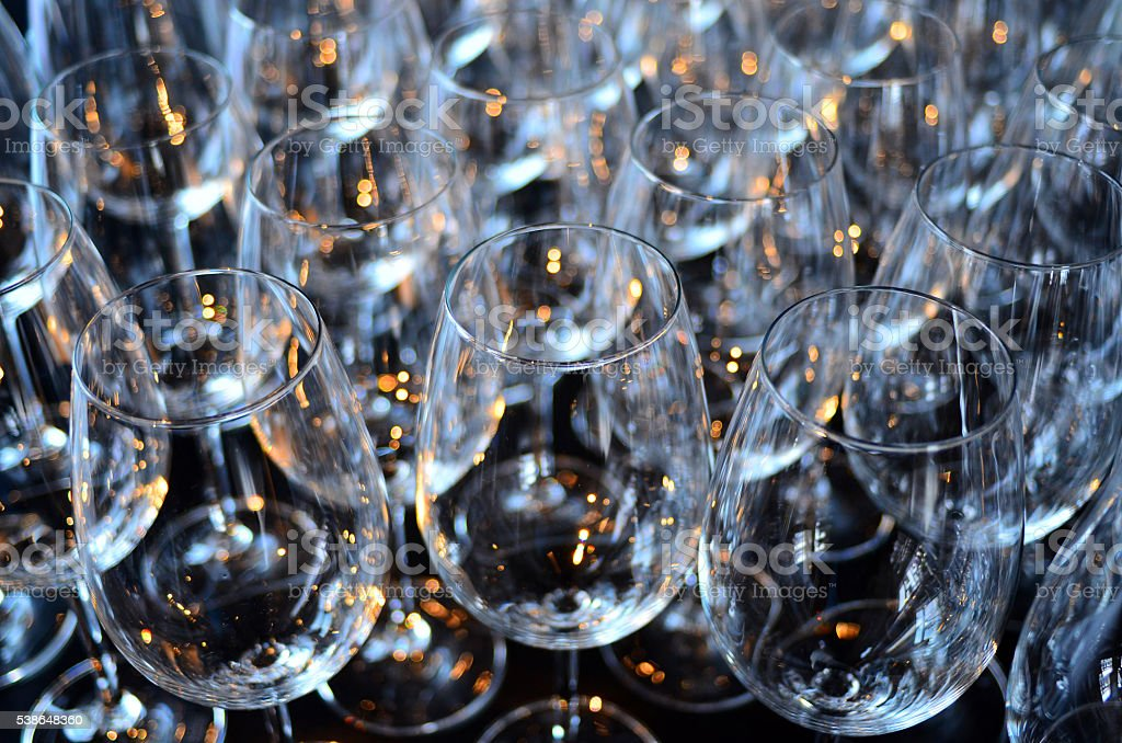 Wine glasses abstract background stock photo