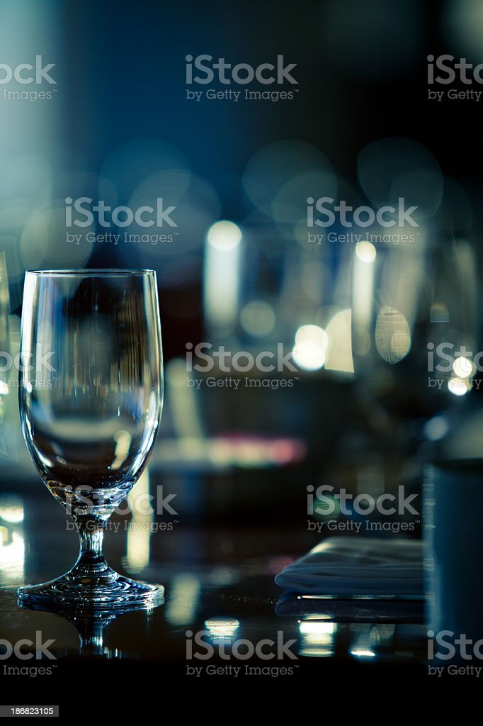 Wine Glasses at a Fancy Restaurant royalty-free stock photo