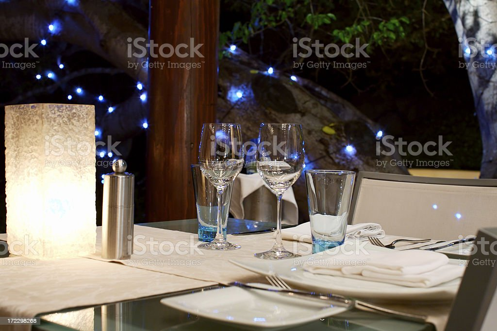 Wine Glasses by the candle light royalty-free stock photo