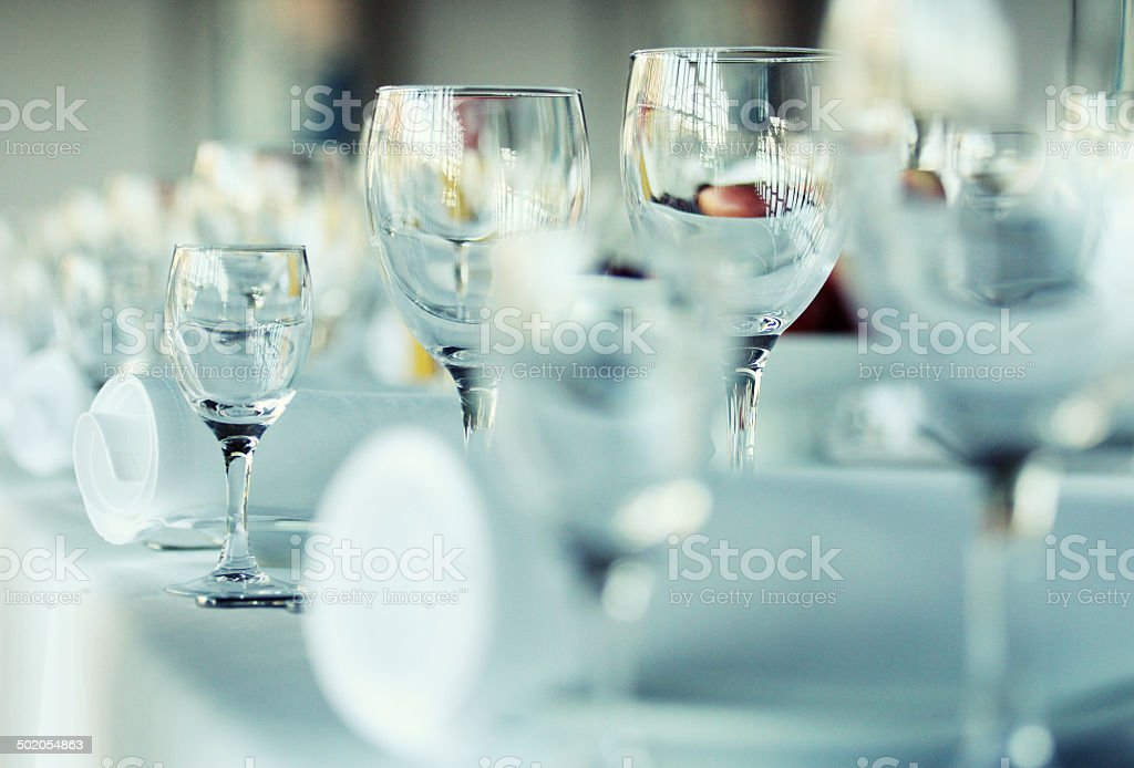 Wine Glasses on the table royalty-free stock photo