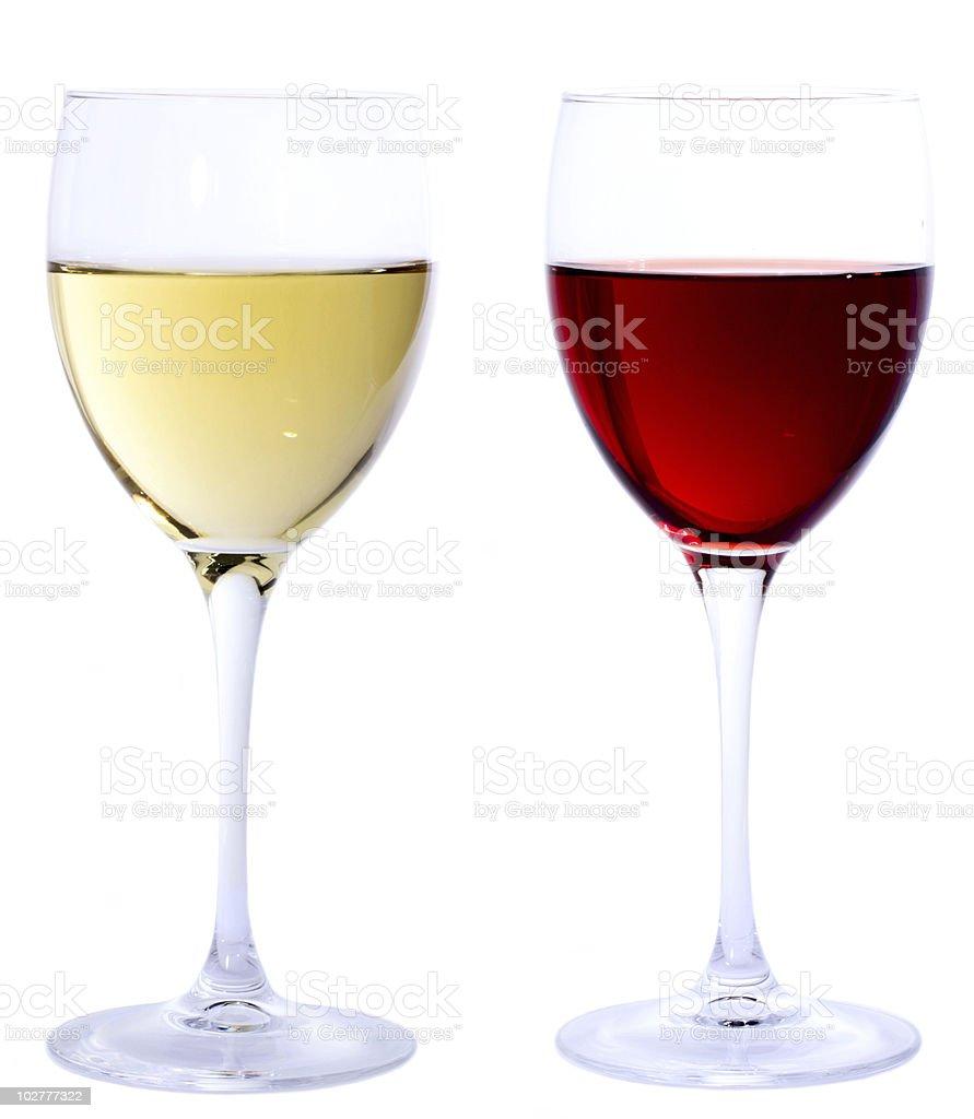 Wine glasses.. stock photo