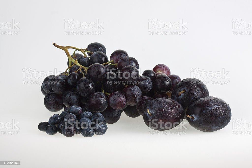Uvas para vinho e Frutas foto de stock royalty-free