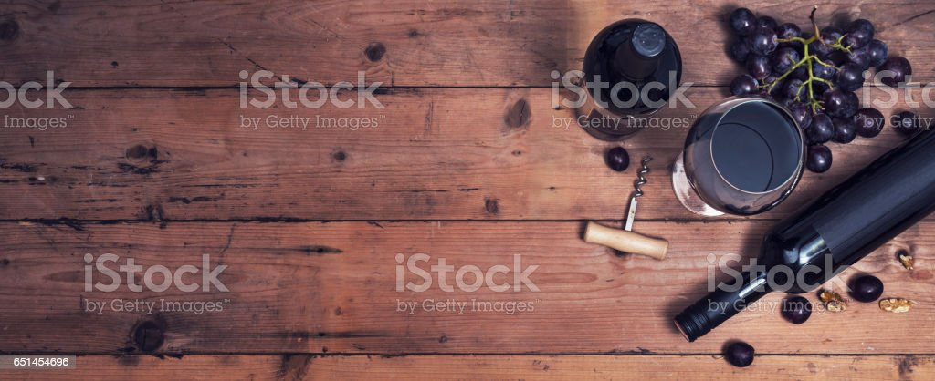 Wine header stock photo