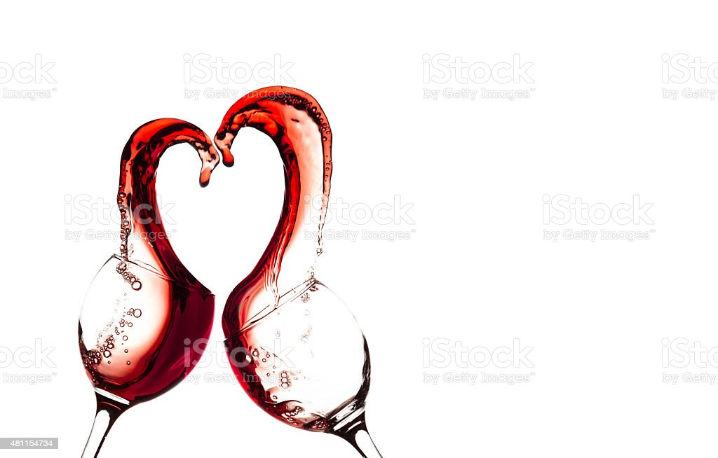 Wine Heart stock photo