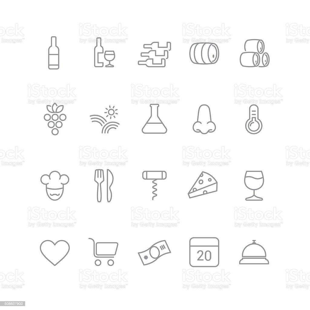 wine icons stock photo