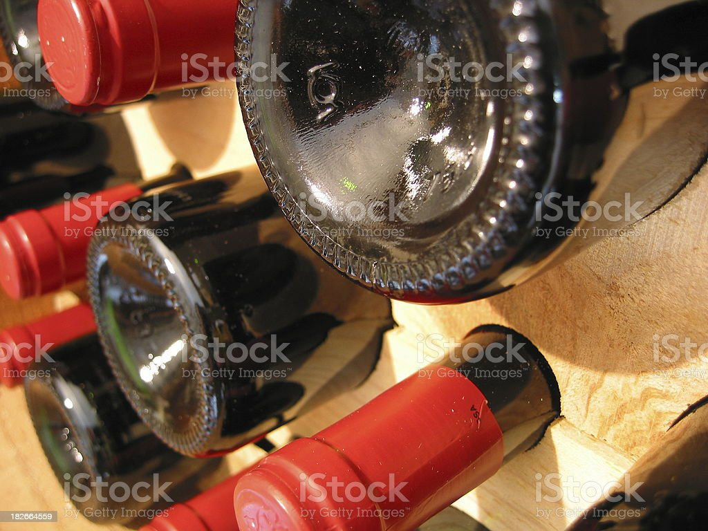Wine in a cellar stock photo