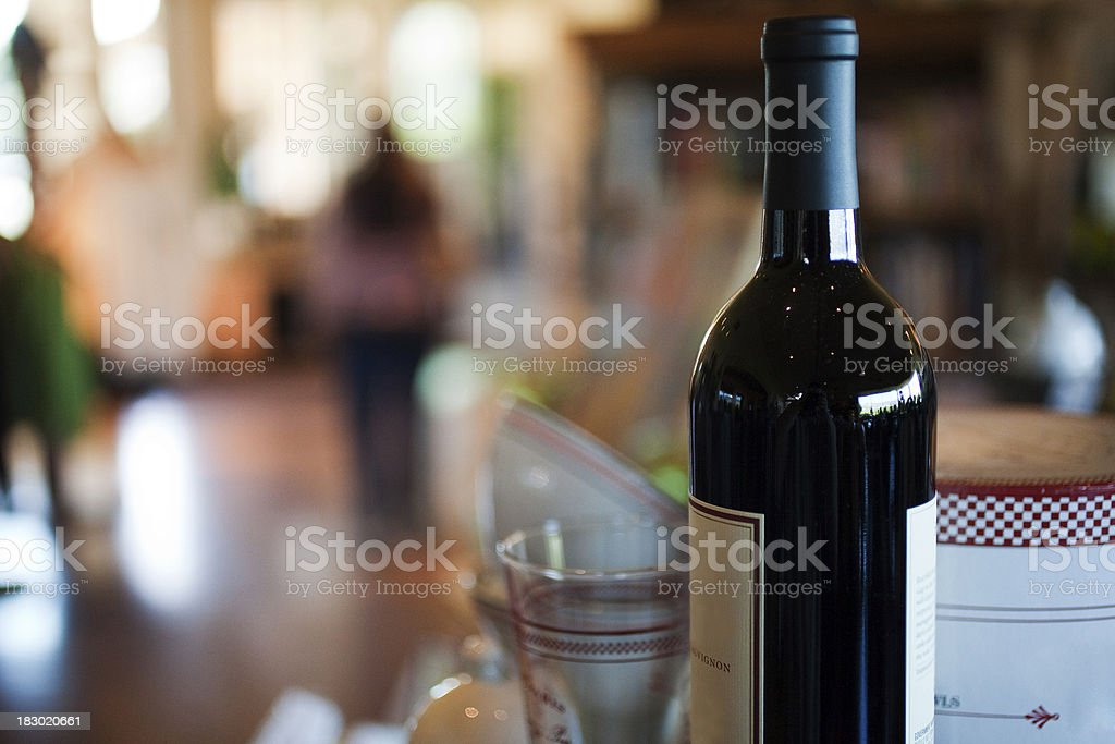 Wine in a Gift Shop royalty-free stock photo