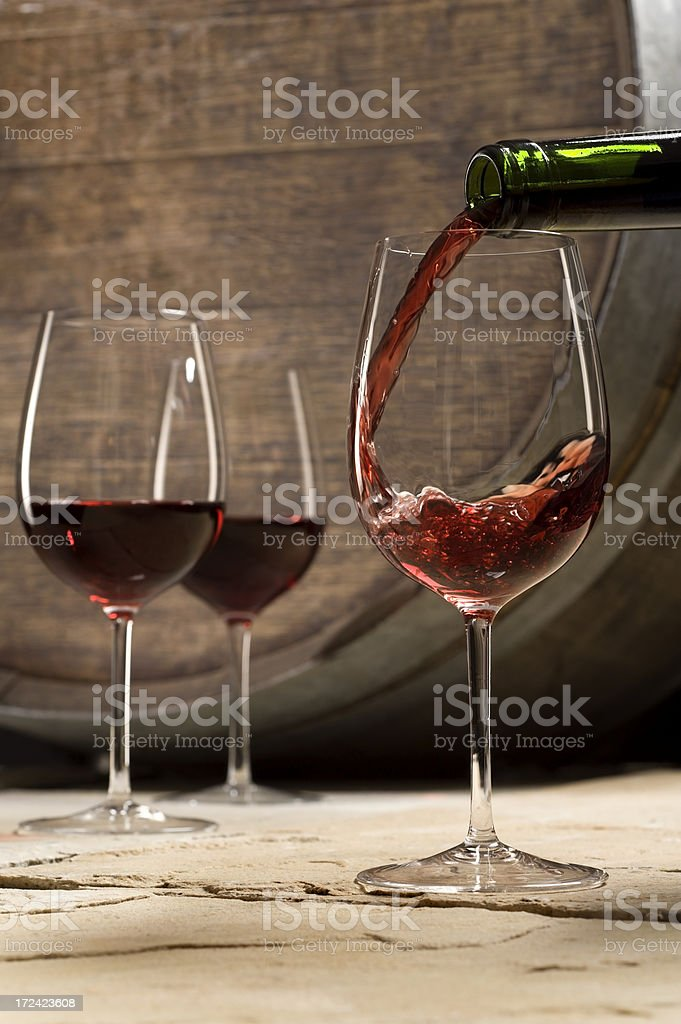Wine in Cellar royalty-free stock photo