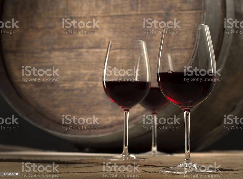 Wine in Cellar stock photo