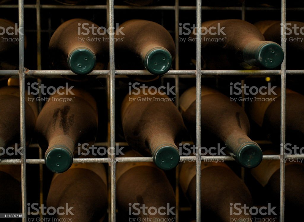 wine in old cellar royalty-free stock photo
