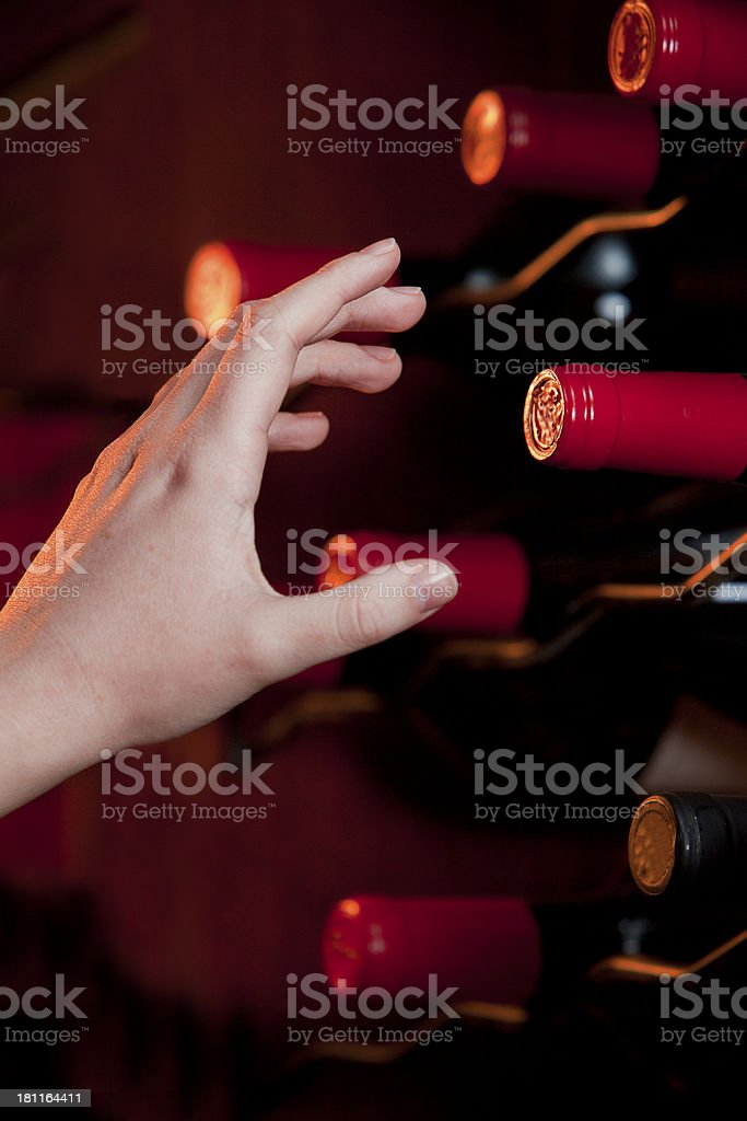 Wine in the cellar royalty-free stock photo