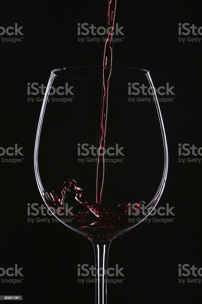 Wine in the Dark royalty-free stock photo