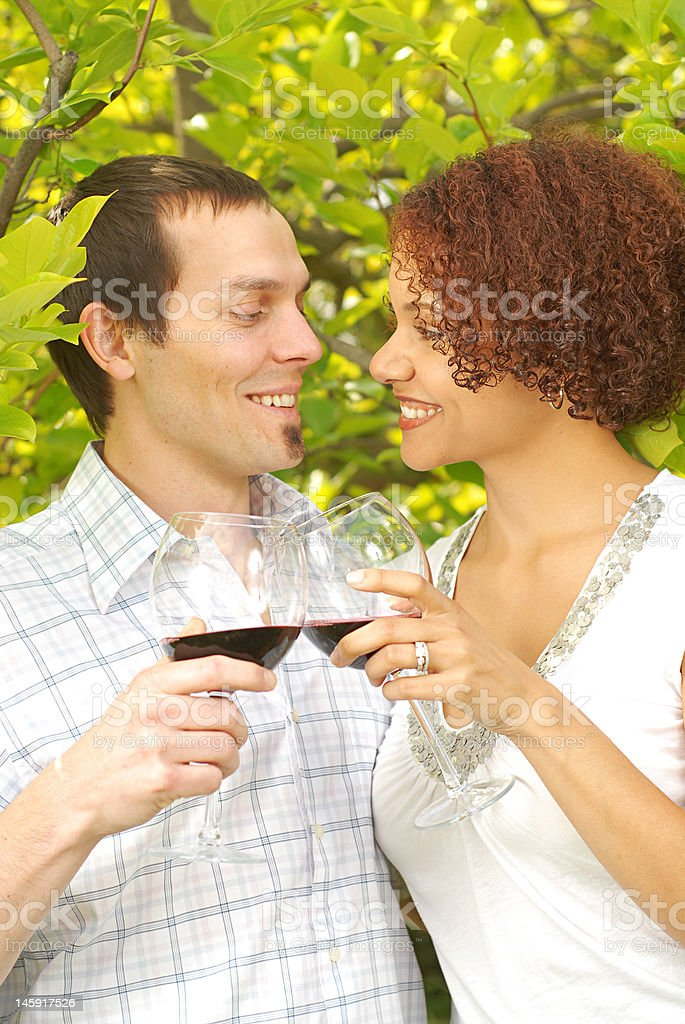 Wine in the park royalty-free stock photo