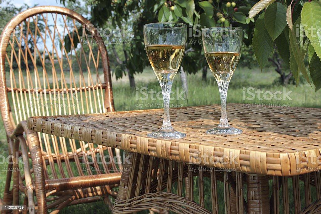 와인 만들진 가든 royalty-free 스톡 사진