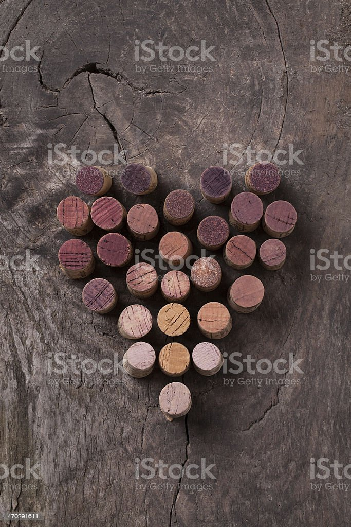 Wine is my life, my love for wine stock photo