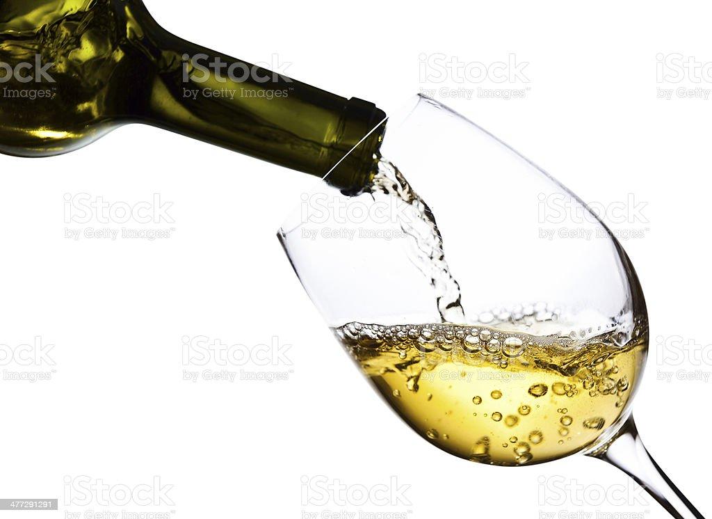 wine isolated  on white background stock photo