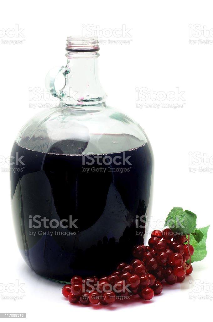 Wine Jug & Grapes royalty-free stock photo