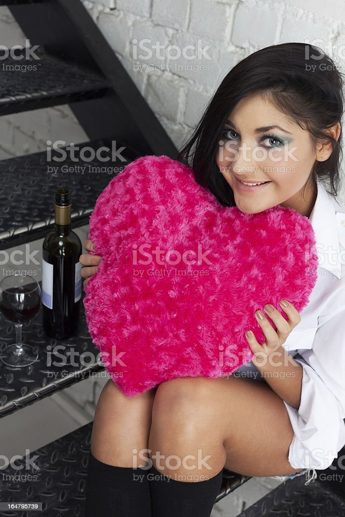 Wine, love and other consequences royalty-free stock photo