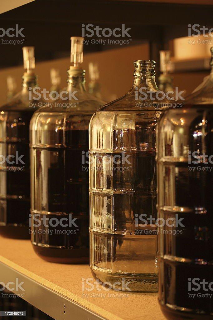 Wine making demijohns royalty-free stock photo