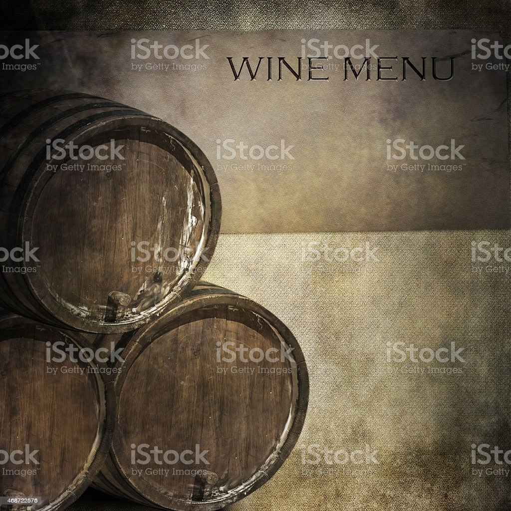 Wine menu stock photo