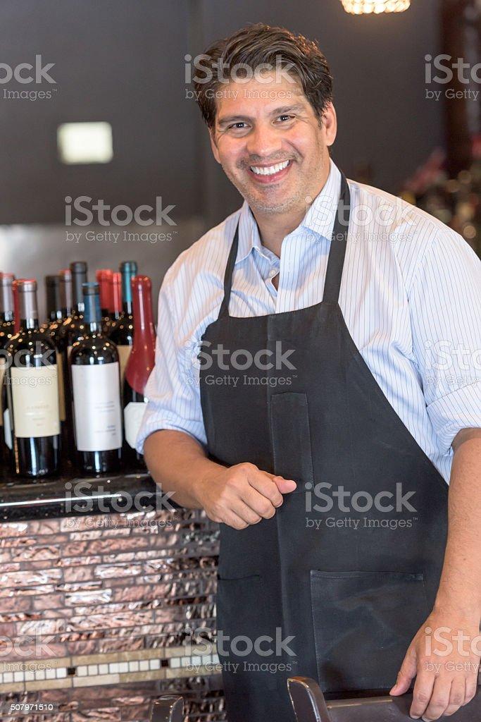 Wine merchant stock photo