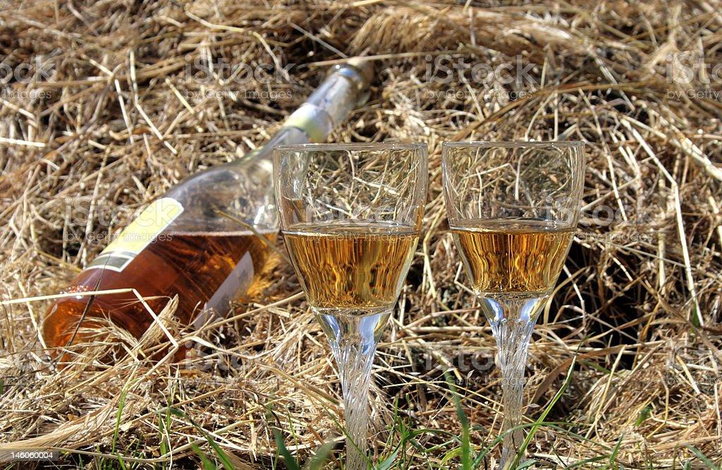 와인을 hayloft royalty-free 스톡 사진