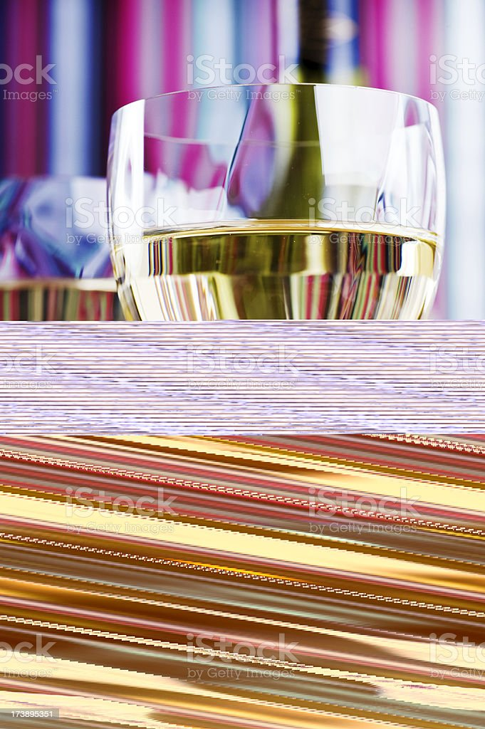 Wine on a table royalty-free stock photo