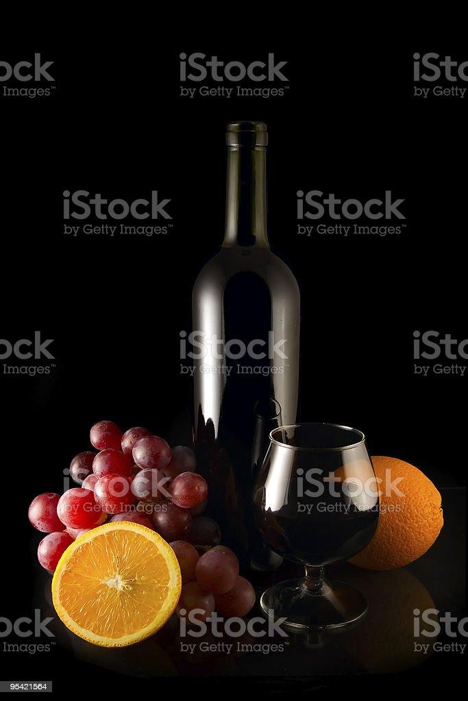wine on black royalty-free stock photo