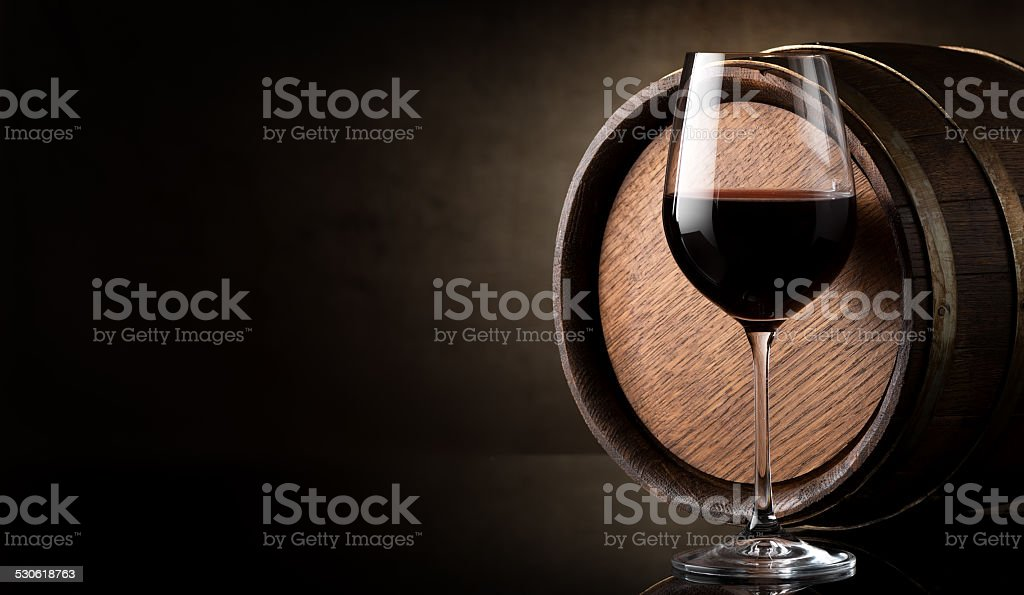 Wine on brown stock photo