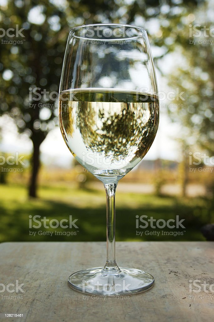 Wine on the patio stock photo