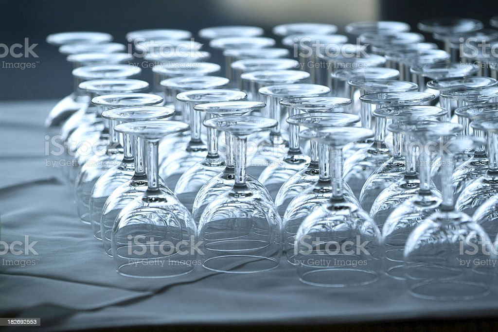 Wine or Water glasses royalty-free stock photo