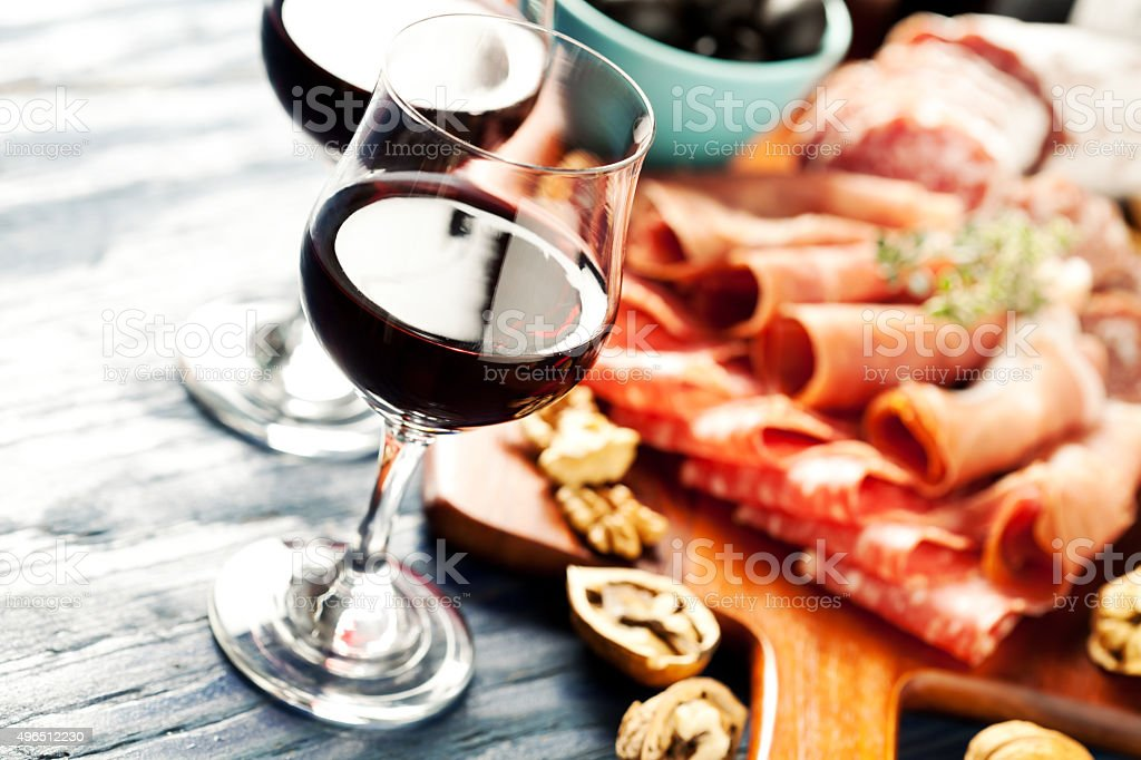 Wine party stock photo