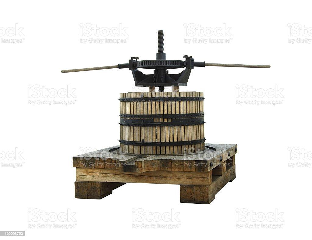 wine press royalty-free stock photo