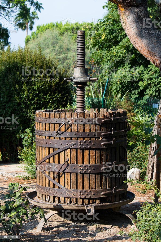 Wine press stock photo