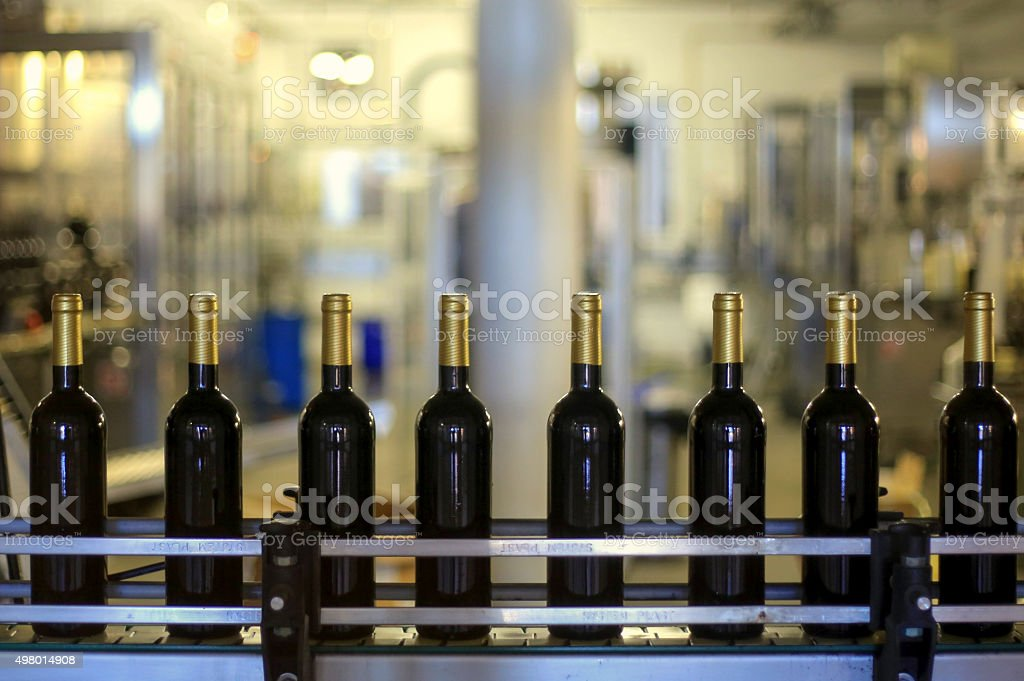 Wine production stock photo