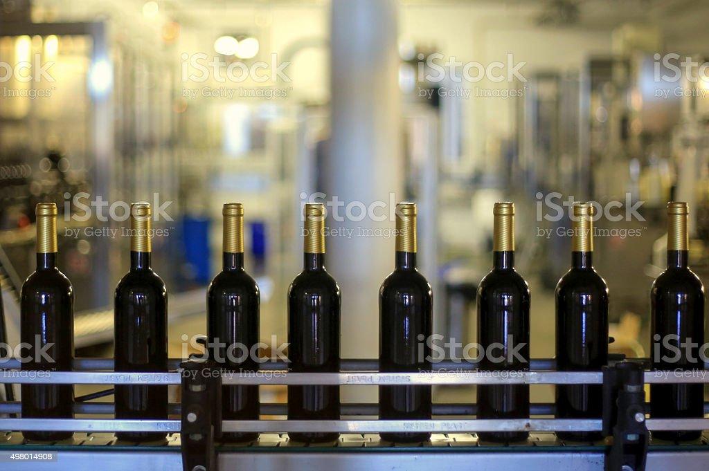 Wine production stock photo