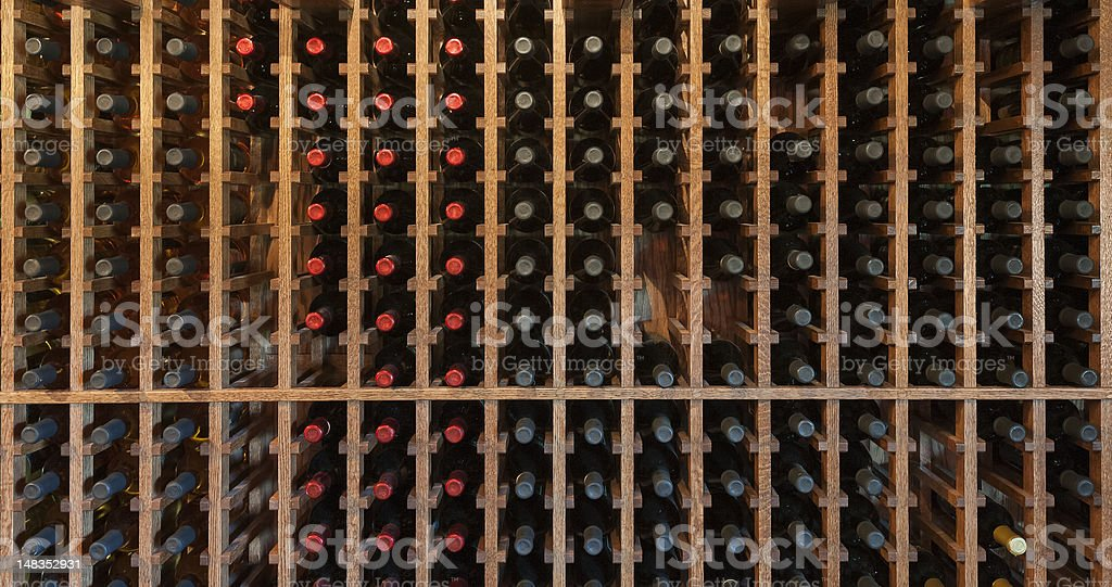 Wine Rack stock photo