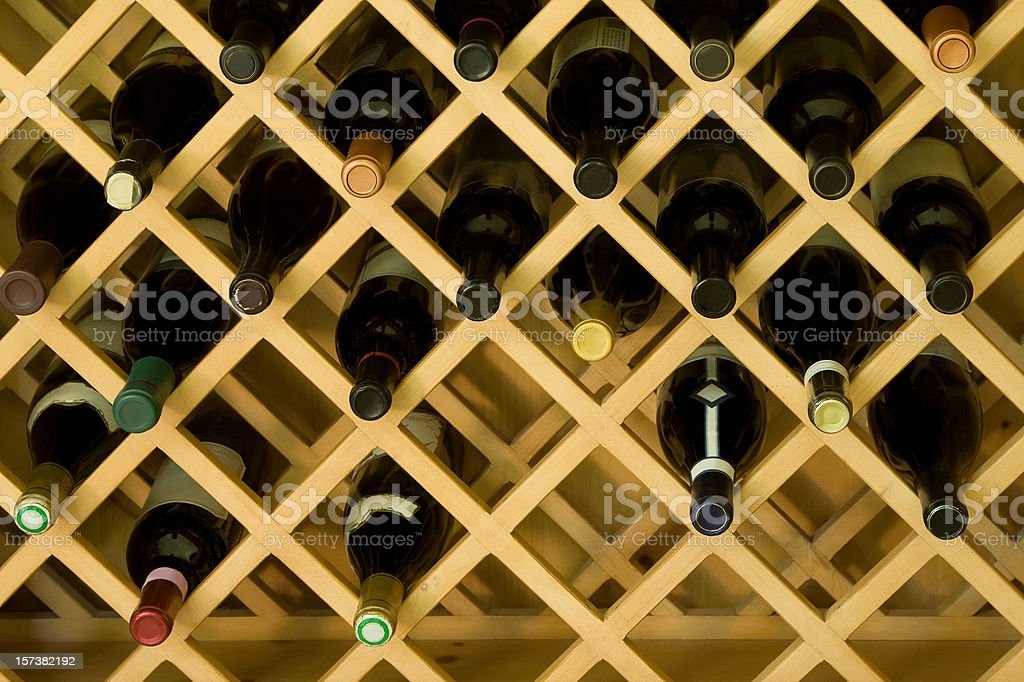 Wine rack royalty-free stock photo