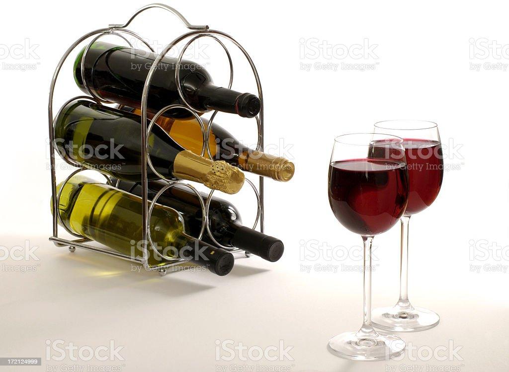 wine rack royalty-free stock photo