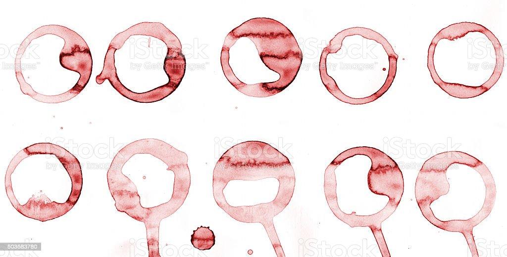 Wine ring stock photo