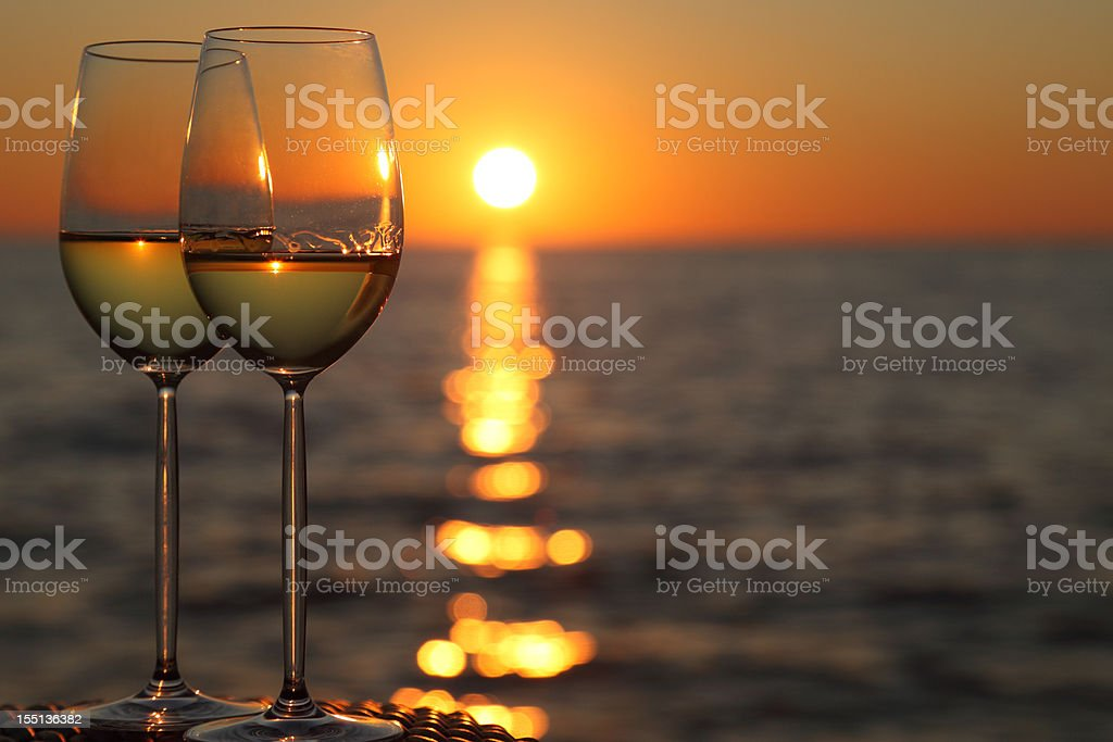 Wine romance royalty-free stock photo