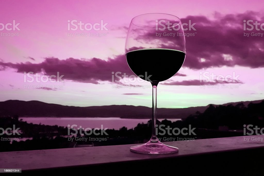 Vin soirée romantique photo libre de droits