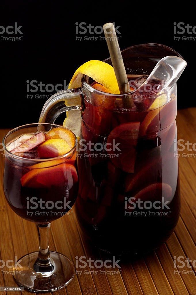 Wine sangria. royalty-free stock photo