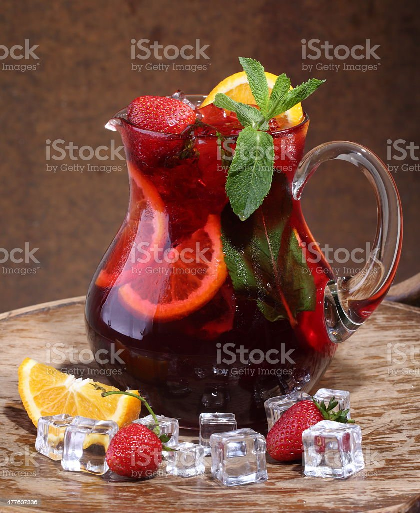 wine sangria stock photo