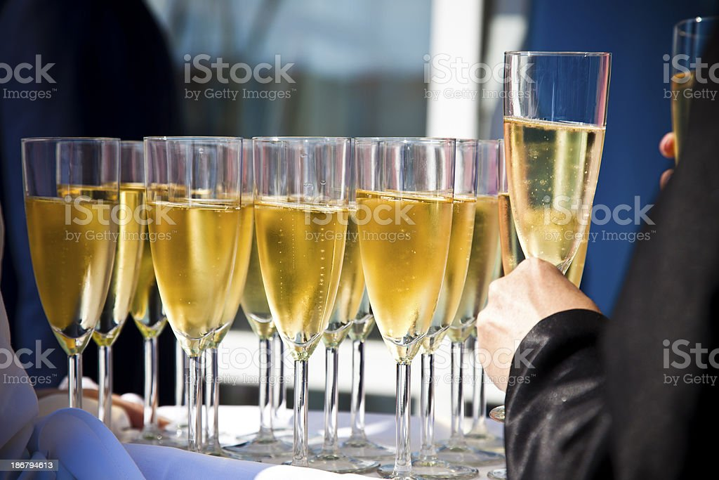wine served royalty-free stock photo